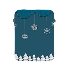 Blue Snowflakes Christmas Trees Apple Ipad 2/3/4 Protective Soft Cases by Mariart