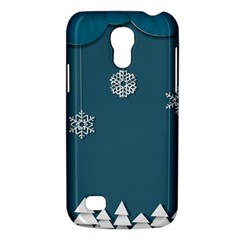 Blue Snowflakes Christmas Trees Galaxy S4 Mini by Mariart