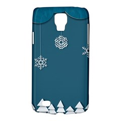 Blue Snowflakes Christmas Trees Galaxy S4 Active by Mariart