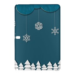 Blue Snowflakes Christmas Trees Samsung Galaxy Tab Pro 10 1 Hardshell Case by Mariart