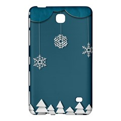 Blue Snowflakes Christmas Trees Samsung Galaxy Tab 4 (8 ) Hardshell Case  by Mariart