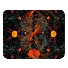Fractal Wallpaper With Dancing Planets On Black Background Double Sided Flano Blanket (large)  by Nexatart