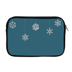 Blue Snowflakes Christmas Trees Apple Macbook Pro 17  Zipper Case by Mariart
