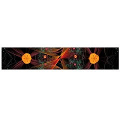 Fractal Wallpaper With Dancing Planets On Black Background Flano Scarf (large) by Nexatart