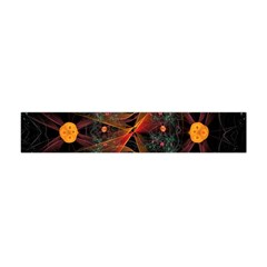 Fractal Wallpaper With Dancing Planets On Black Background Flano Scarf (mini) by Nexatart