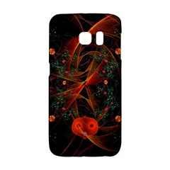 Fractal Wallpaper With Dancing Planets On Black Background Galaxy S6 Edge by Nexatart