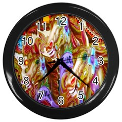 3 Carousel Ride Horses Wall Clocks (black) by Nexatart