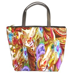 3 Carousel Ride Horses Bucket Bags by Nexatart