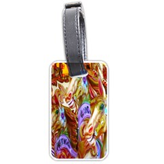 3 Carousel Ride Horses Luggage Tags (two Sides) by Nexatart