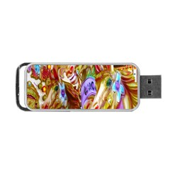 3 Carousel Ride Horses Portable Usb Flash (one Side) by Nexatart