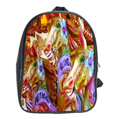 3 Carousel Ride Horses School Bags (xl)  by Nexatart
