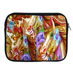 3 Carousel Ride Horses Apple Ipad 2/3/4 Zipper Cases by Nexatart
