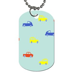 Car Yellow Blue Orange Dog Tag (two Sides) by Mariart