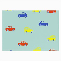 Car Yellow Blue Orange Large Glasses Cloth (2 Side) by Mariart