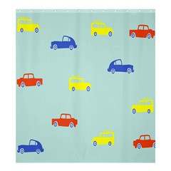 Car Yellow Blue Orange Shower Curtain 66  X 72  (large)  by Mariart