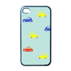 Car Yellow Blue Orange Apple Iphone 4 Case (black) by Mariart