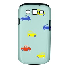 Car Yellow Blue Orange Samsung Galaxy S Iii Classic Hardshell Case (pc+silicone) by Mariart