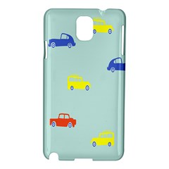 Car Yellow Blue Orange Samsung Galaxy Note 3 N9005 Hardshell Case by Mariart