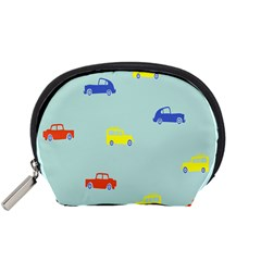 Car Yellow Blue Orange Accessory Pouches (small)  by Mariart