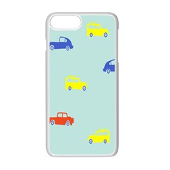 Car Yellow Blue Orange Apple Iphone 7 Plus White Seamless Case