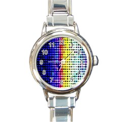 A Creative Colorful Background Round Italian Charm Watch by Nexatart