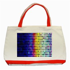 A Creative Colorful Background Classic Tote Bag (red)