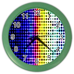 A Creative Colorful Background Color Wall Clocks
