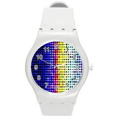 A Creative Colorful Background Round Plastic Sport Watch (m) by Nexatart