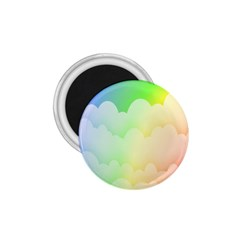 Cloud Blue Sky Rainbow Pink Yellow Green Red White Wave 1 75  Magnets by Mariart