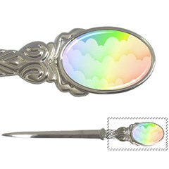 Cloud Blue Sky Rainbow Pink Yellow Green Red White Wave Letter Openers by Mariart