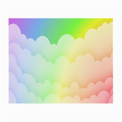 Cloud Blue Sky Rainbow Pink Yellow Green Red White Wave Small Glasses Cloth by Mariart