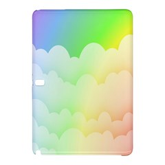 Cloud Blue Sky Rainbow Pink Yellow Green Red White Wave Samsung Galaxy Tab Pro 10 1 Hardshell Case by Mariart