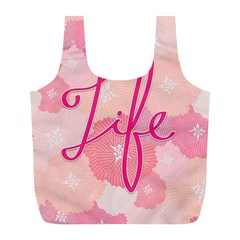 Life Typogrphic Full Print Recycle Bags (l)  by Nexatart
