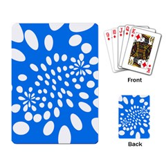 Circles Polka Dot Blue White Playing Card by Mariart