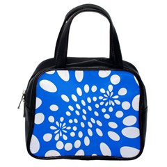 Circles Polka Dot Blue White Classic Handbags (one Side) by Mariart