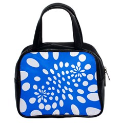 Circles Polka Dot Blue White Classic Handbags (2 Sides) by Mariart
