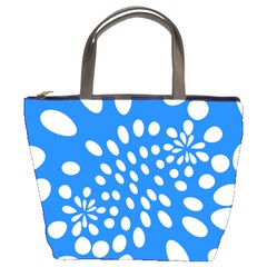 Circles Polka Dot Blue White Bucket Bags by Mariart