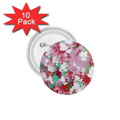 Confetti Hearts Digital Love Heart Background Pattern 1 75  Buttons (10 Pack) by Nexatart