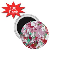 Confetti Hearts Digital Love Heart Background Pattern 1 75  Magnets (100 Pack)  by Nexatart