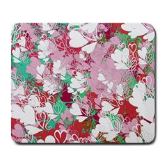 Confetti Hearts Digital Love Heart Background Pattern Large Mousepads by Nexatart