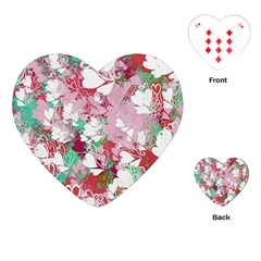 Confetti Hearts Digital Love Heart Background Pattern Playing Cards (heart)  by Nexatart