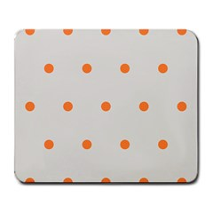 Diamond Polka Dot Grey Orange Circle Spot Large Mousepads by Mariart