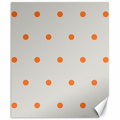 Diamond Polka Dot Grey Orange Circle Spot Canvas 20  X 24   by Mariart