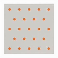Diamond Polka Dot Grey Orange Circle Spot Medium Glasses Cloth by Mariart