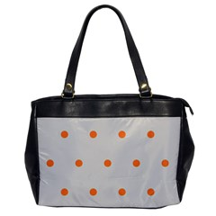 Diamond Polka Dot Grey Orange Circle Spot Office Handbags by Mariart