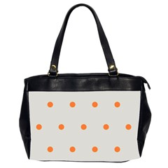 Diamond Polka Dot Grey Orange Circle Spot Office Handbags (2 Sides)  by Mariart