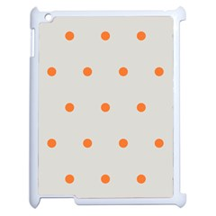Diamond Polka Dot Grey Orange Circle Spot Apple Ipad 2 Case (white) by Mariart