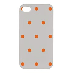 Diamond Polka Dot Grey Orange Circle Spot Apple Iphone 4/4s Hardshell Case by Mariart