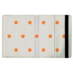 Diamond Polka Dot Grey Orange Circle Spot Apple Ipad 3/4 Flip Case by Mariart