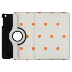 Diamond Polka Dot Grey Orange Circle Spot Apple Ipad Mini Flip 360 Case by Mariart